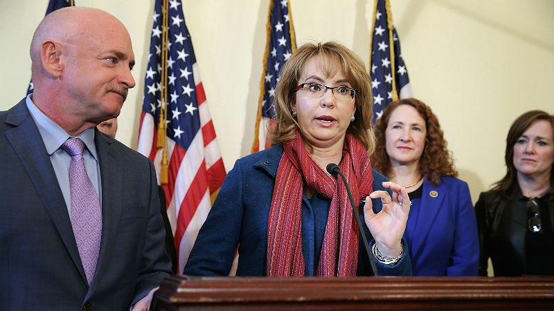 Illustration for article titled Gabby Giffords Is Over Congress' Shit, Urges Tougher Gun Control Laws