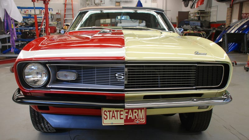 Illustration for article titled State Farm Built The Harvey Dent Of Camaros, Can You Tell Its Good Side From Its Bad?