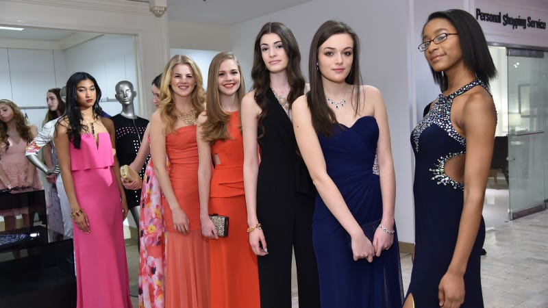 Models at Lord & Taylor's NYC Prom Fashion Show, 2015.