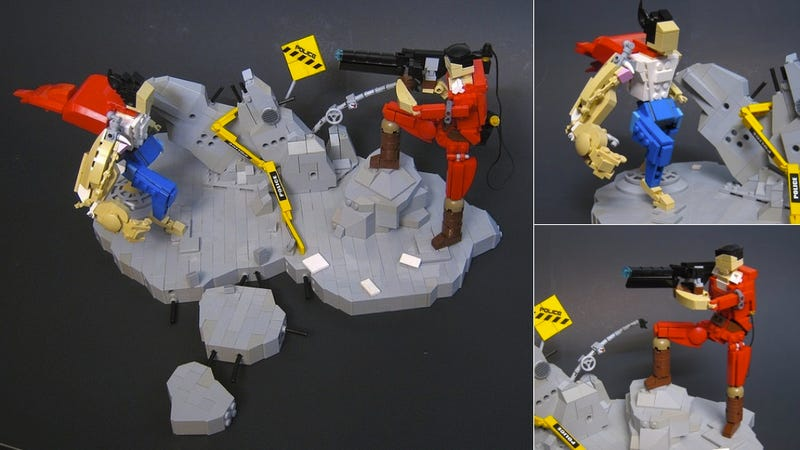 """Illustration for article titled This Akira LEGO Diorama Will Make You Scream """"Kanedaaa!"""""""
