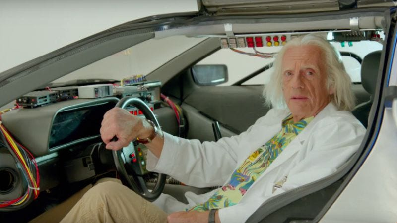 Illustration for article titled Celebrate Back To The Future Day with a calming reassurance from Doc Brown