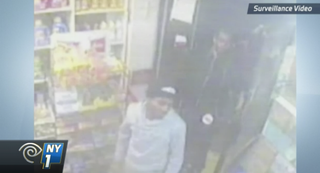 Bodega surveillance video footage showing some of the suspectsNY 1