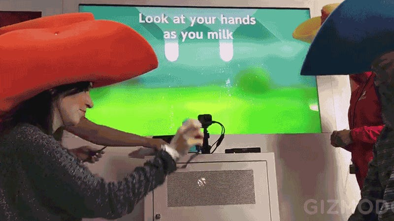 The New Nintendo Switch Lets You Milk a Virtual Cow, For Some Reason