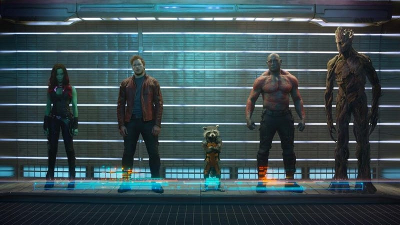Illustration for article titled Happy New Years Eve, here's the first official Guardians of the Galaxy Photo