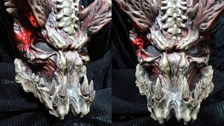 Illustration for article titled This insane homemade Predator mask is perfect for dinner parties