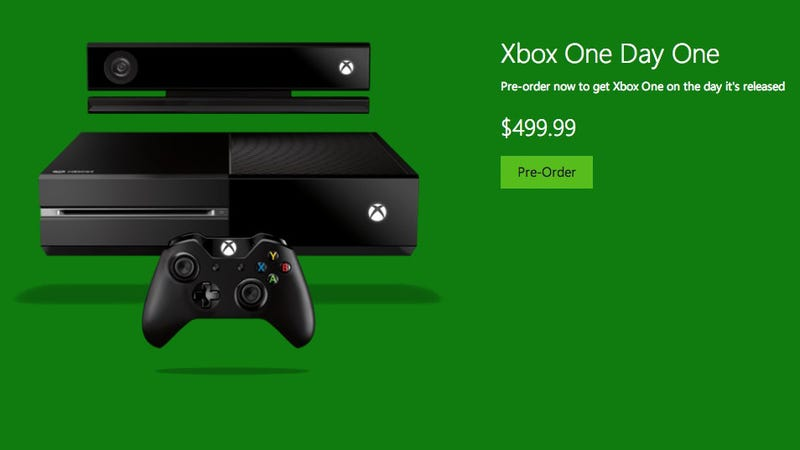 Illustration for article titled You Can Now Preorder an Xbox One