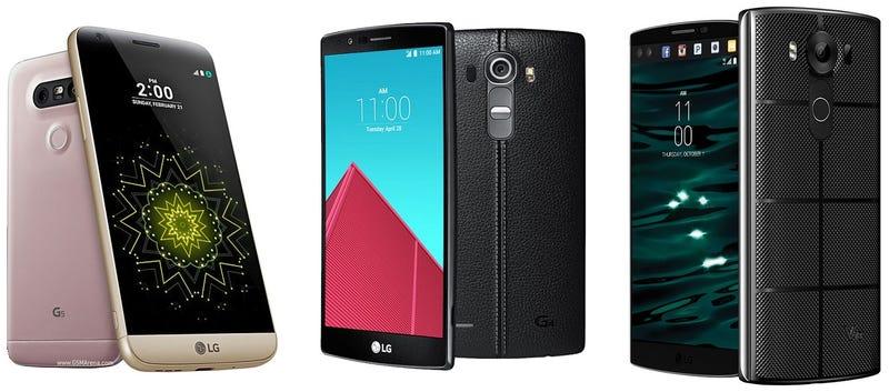 Illustration for article titled Comparativa del nuevo LG G5 vs G4 vs V10, ¿qué cambia?
