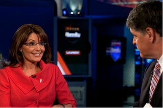 Illustration for article titled Sarah Palin's Inevitable Fox Deal Does Not Include Getting Her Own Talk Show