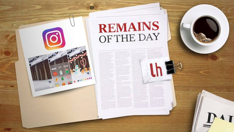 Illustration for article titled Remains of the Day: Instagram Stories Get Stickers and 'Hands-Free' Mode