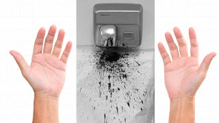 Illustration for article titled This Is How Hand Dryers Spread Bacteria