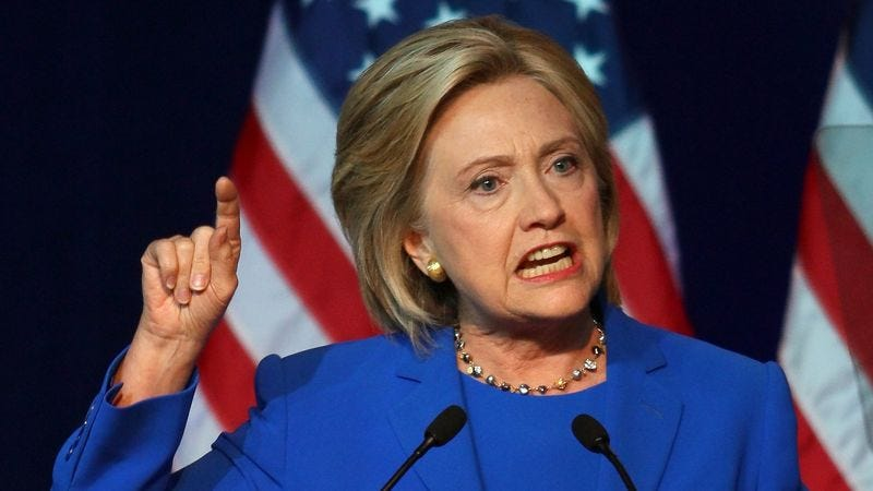Illustration for article titled Clinton Promises To Enact Agenda Whether Or Not She Elected