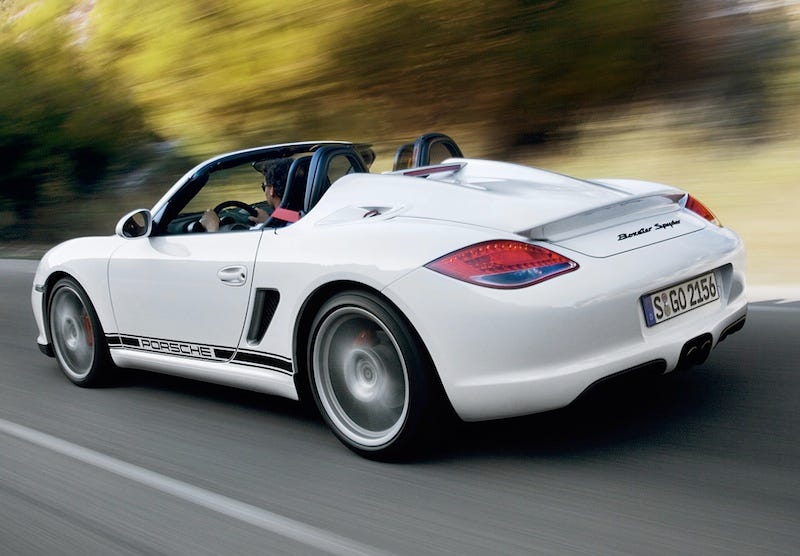 Illustration for article titled Porsche Boxster Spyder: The Lightest Porsche You Can Buy