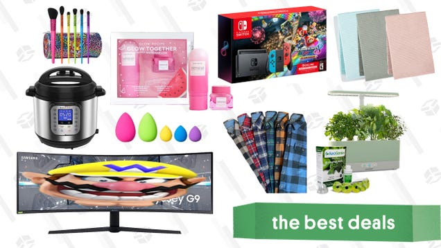 Tuesday s Best Deals: Nintendo Switch, AeroGarden Harvest Slim, Samsung 49  Curved Monitor, Martha Stewart Bath Towels, Lisa Frank Cosmetics, and More