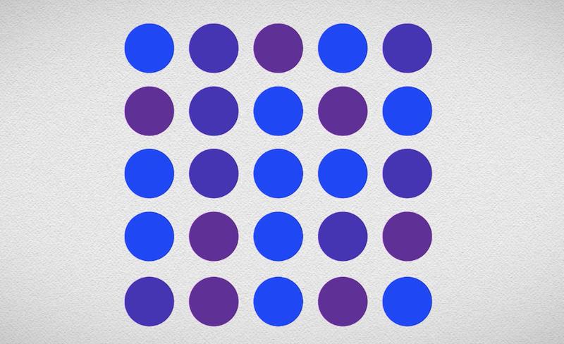 ¿Cuántos puntos azules ves?