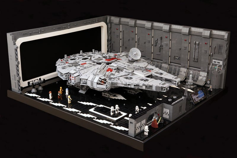 Illustration for article titled The Death Star's Docking Bay 327 gets a remarkable Lego makeover