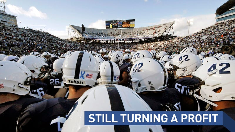 Illustration for article titled Penn State Athletics Donations Dropped After Sandusky, But Football Giving Quintupled