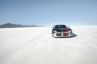 Illustration for article titled Edmunds Inside Line Gets 2008 Dodge Viper ACR Salty At Bonneville
