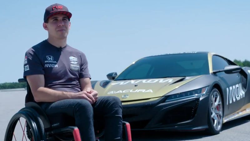 Illustration for article titled Robert Wickens is Driving on a Race Track Again