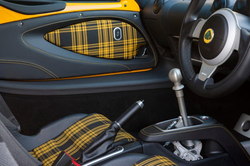 Illustration for article titled The Lotus Exige Sport 350: Plaid Seats And A Sexy Manual? Sold