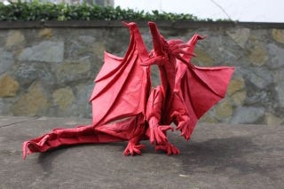 Illustration for article titled Papercraft Genius Creates Origami Dragons, Grim Reaper, and More
