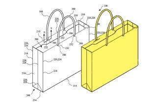 Illustration for article titled Apple patenta una bolsa de papel