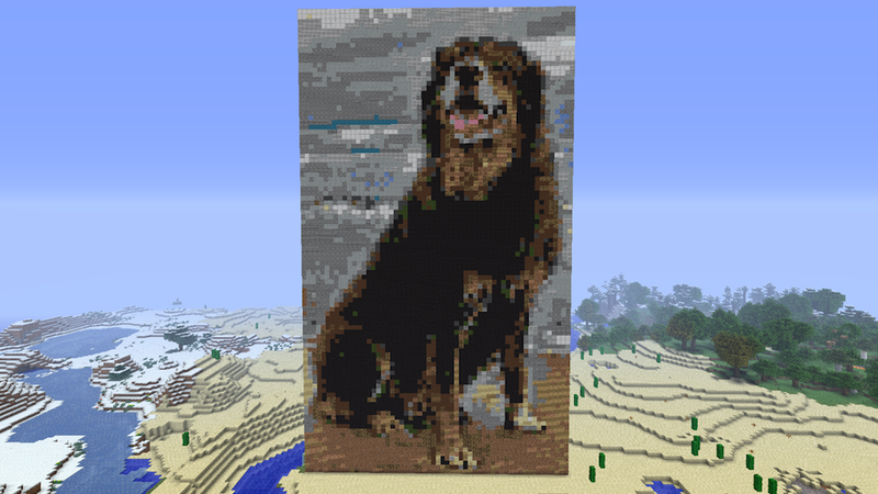 Illustration for article titled The Best Minecraft Dog You'll See Today