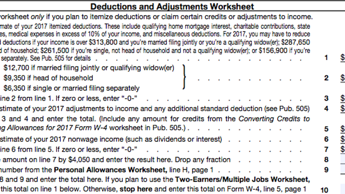 worksheet W 4 Allowances Worksheet a beginners guide to filling out your w 4
