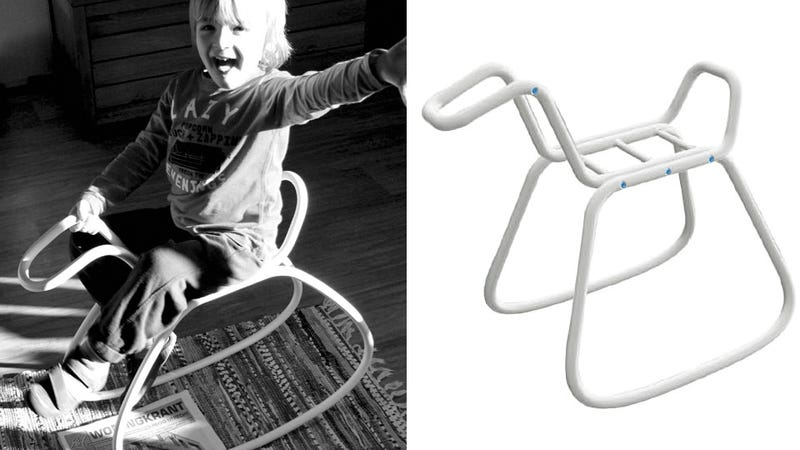 Illustration for article titled It's A Shame This Gorgeous Rocking Horse Is Just for Kids