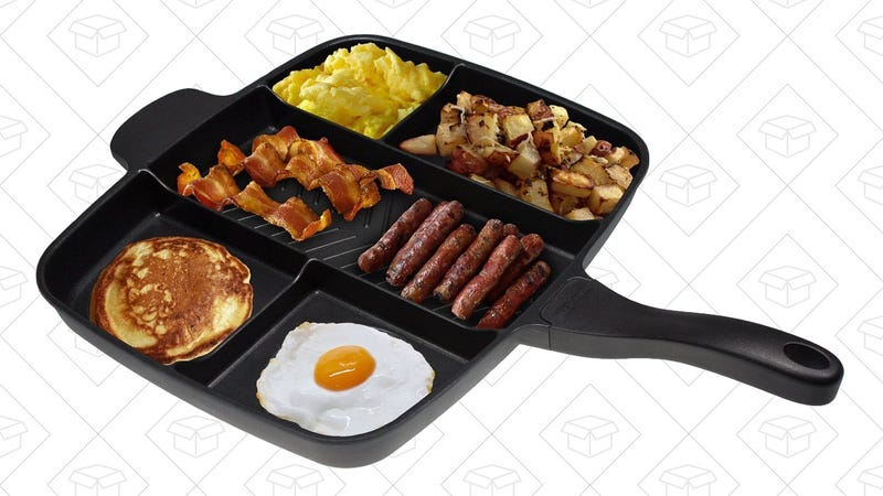 """Master Pan Non-Stick Divided Grill/Fry/Oven Meal Skillet, 15"""" 
