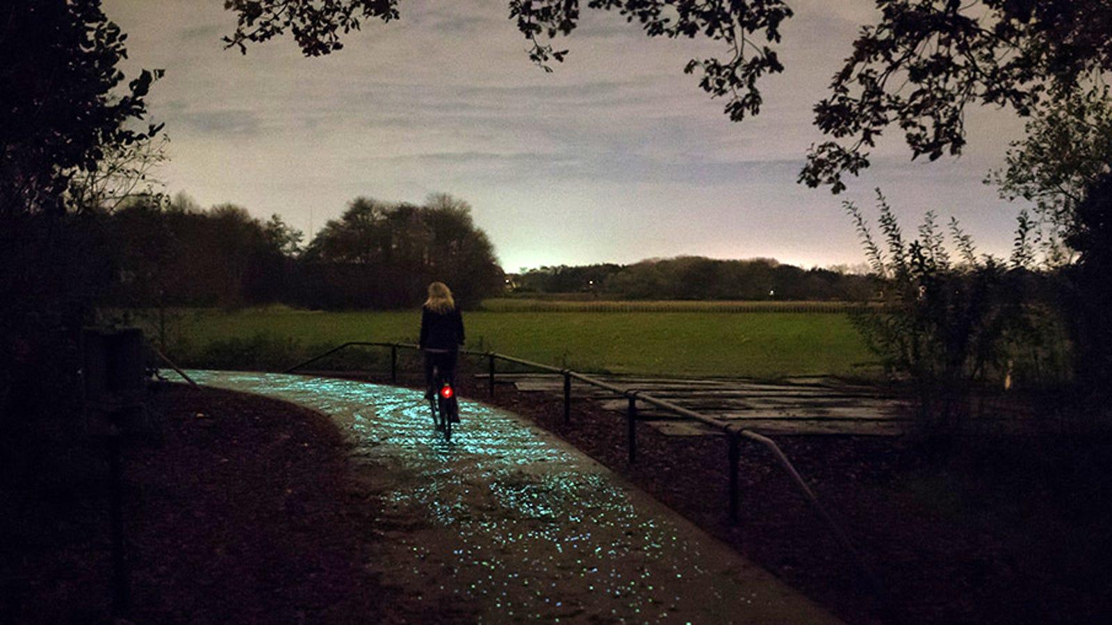 Holanda estrena el primer carril-bici que brilla en la oscuridad