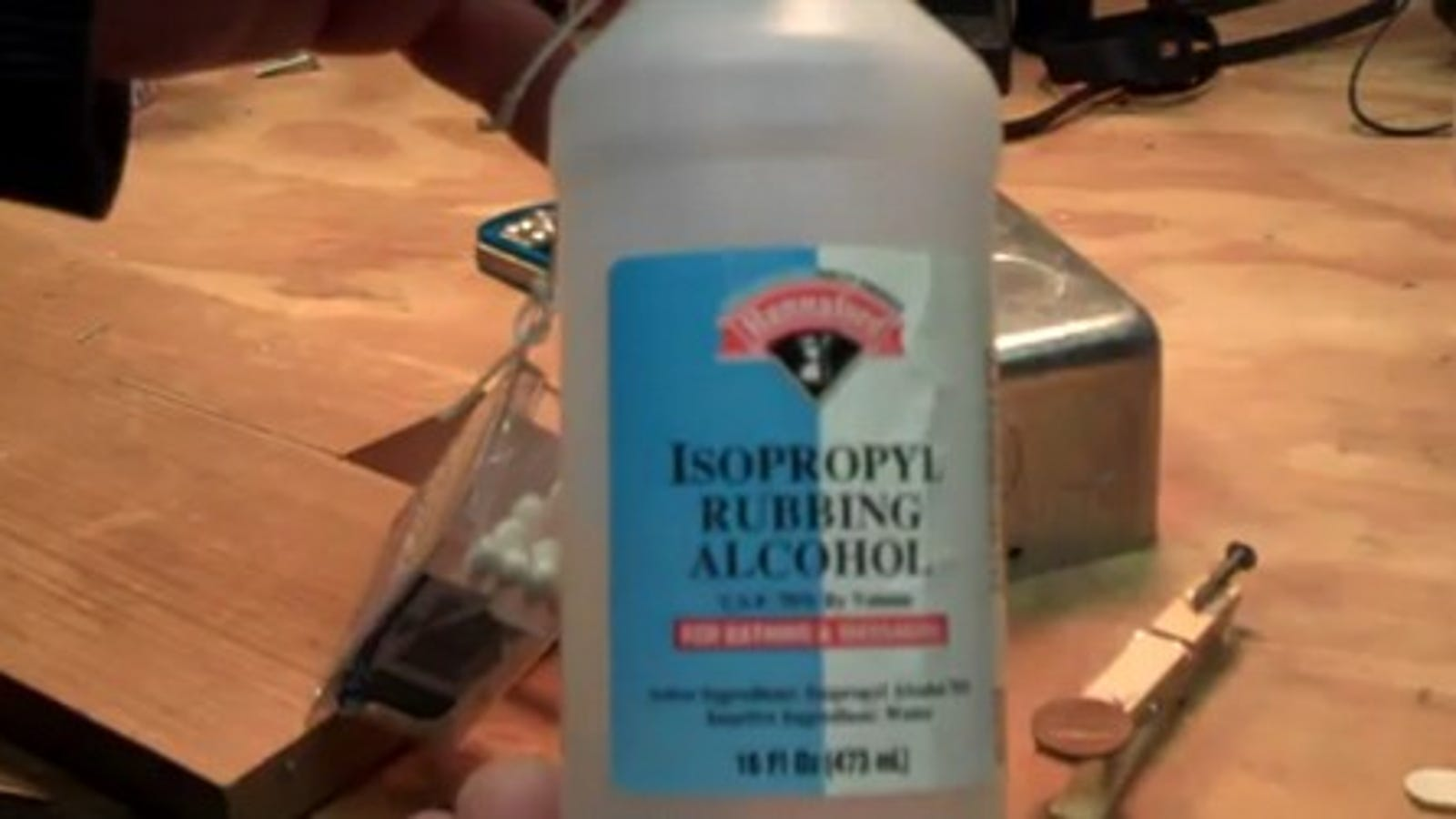 Use Rubbing Alcohol To Remove Hot Glue From Nearly Anything