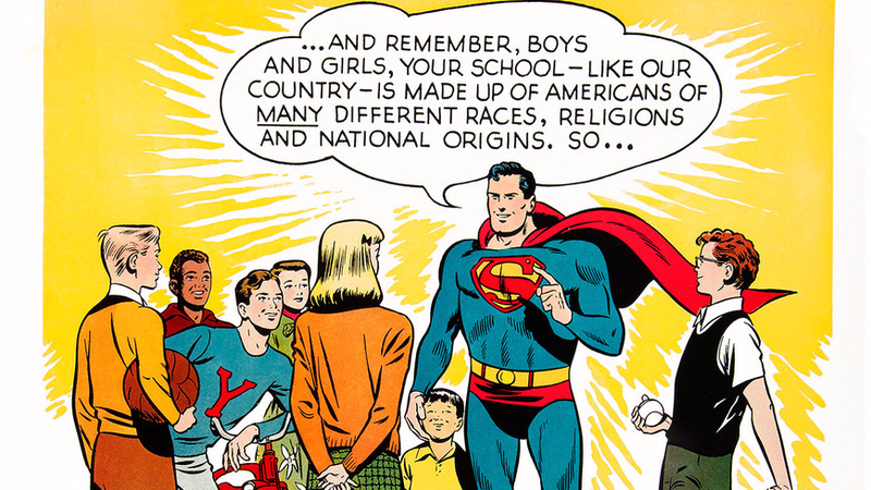Superman Teaches Diversity In This Beautifully Restored Poster