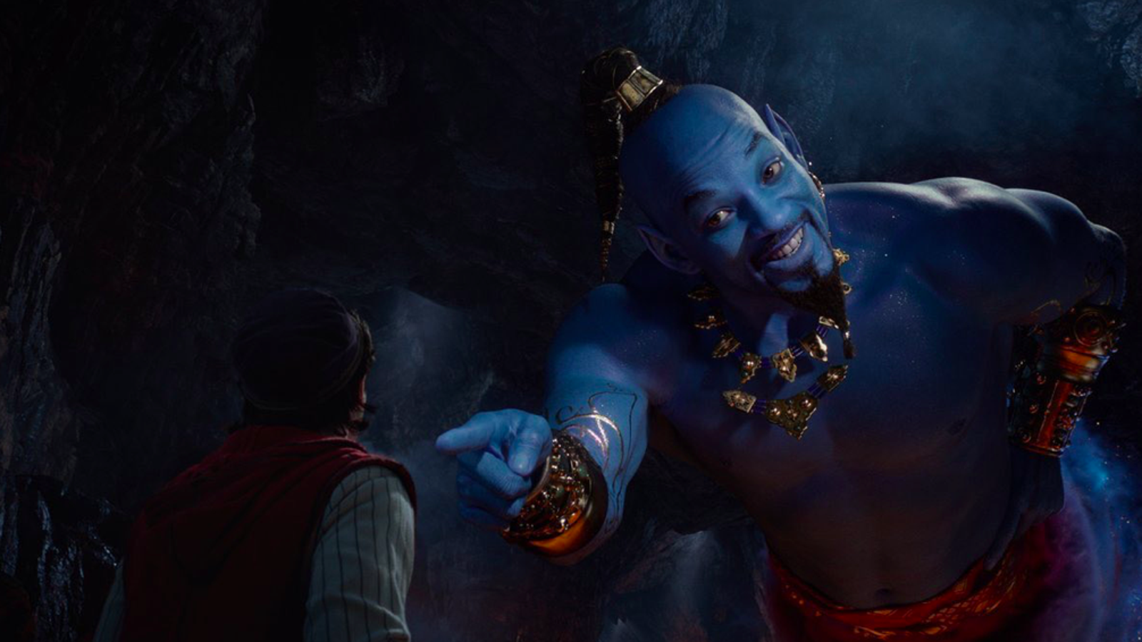 The New Aladdin Trailer Finally Shows Will Smith's Blue Genie in Action