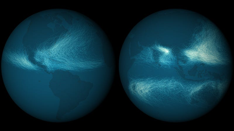 Illustration for article titled Los huracanes de los últimos 170 años, en una imagen