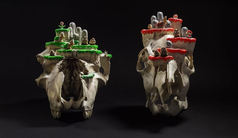 Illustration for article titled Mario Levels Made Out Of Real Animal Skulls. Creepy.