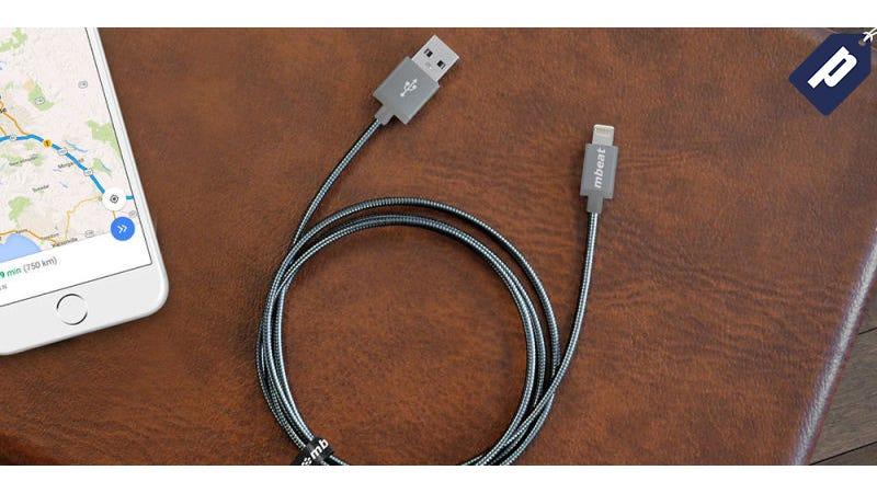 Illustration for article titled Get 2 Metal BraidedMFi-CertifiedLightning Cables for Half Off ($30)
