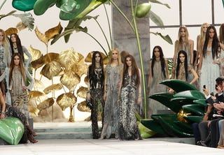 Illustration for article titled Roberto Cavalli: Slinky Flappers Meet Rich Hippies