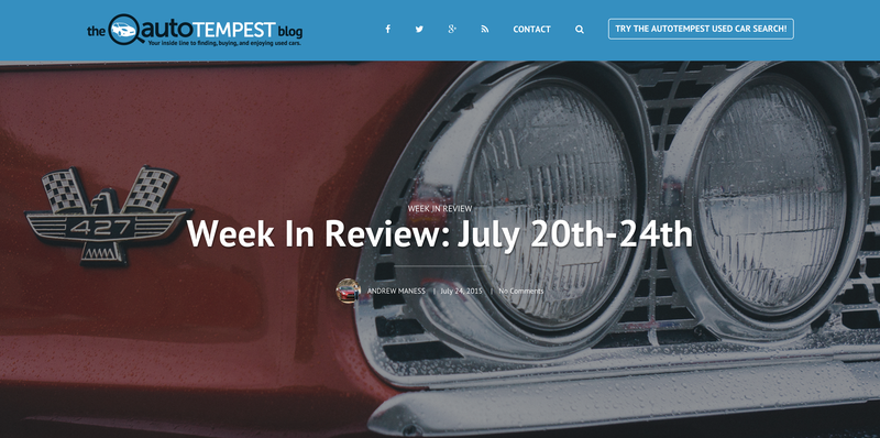 Illustration for article titled The AutoTempest Blog Week In Review July 20th-24th