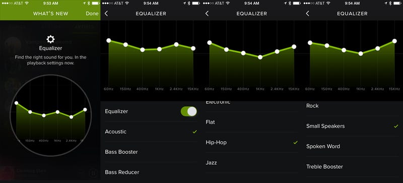 Illustration for article titled Spotify Just Added a Surprisingly Exciting Equalizer to Its iOS App