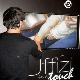 """Illustration for article titled """"Uffizi in a Touch"""" Brings Cover Flow to Renaissance Masterpieces"""