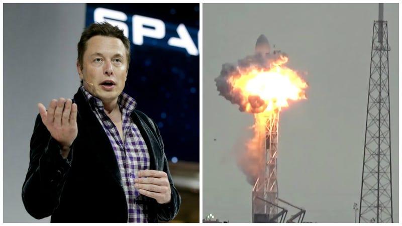 Imagen: Izquierda, Jae C. Hong / AP Images. Derecha, captura del Falcon 9 destruido en el accidente.