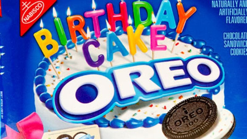 Illustration for article titled Birthday Cake Oreos