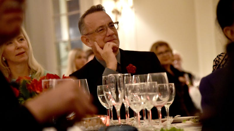 Tom Hanks at the 2018 American Friends of Blerancourt Dinner in November 2018.