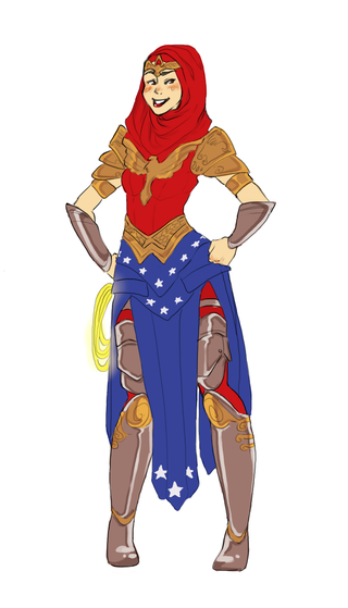 Illustration for article titled Muslim Wonder Woman redesign puts Diana in a headscarf