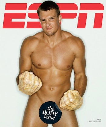 "Illustration for article titled Photoshop Time: Rob Gronkowski On The Cover Of ""The Body Issue"""