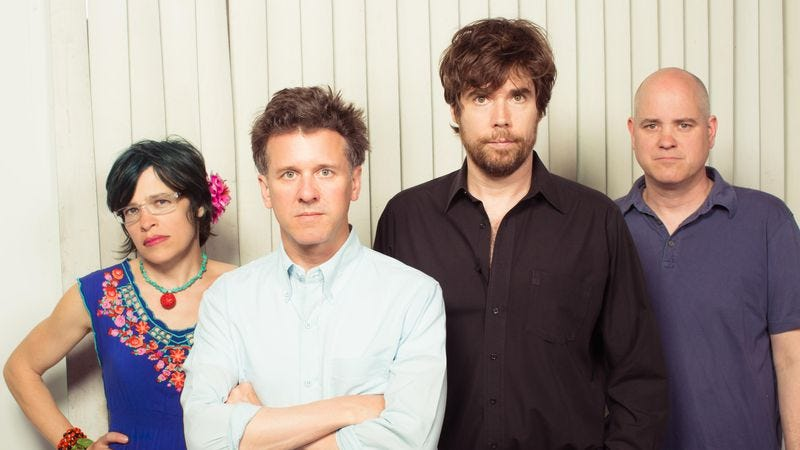 Ballance, left, with the rest of Superchunk
