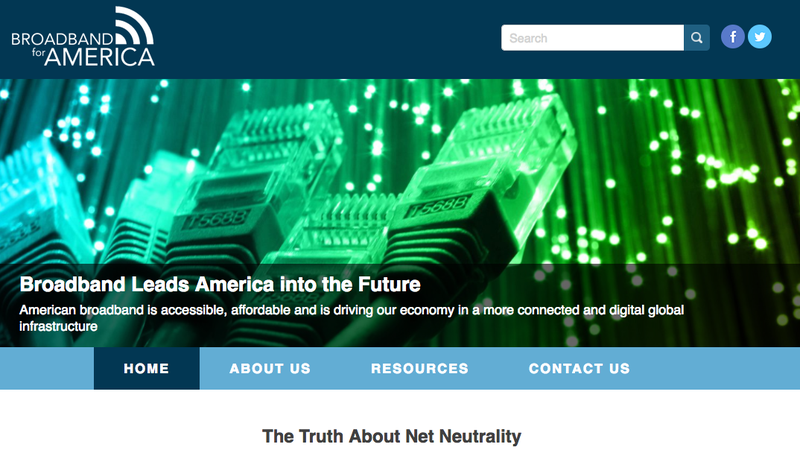 The Broadband for America website.