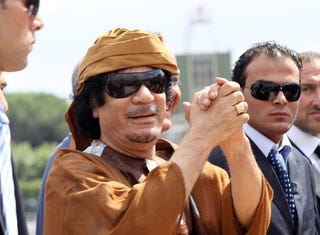 The ICC issues an arrest warrant for Qaddafi and his family. (Getty)