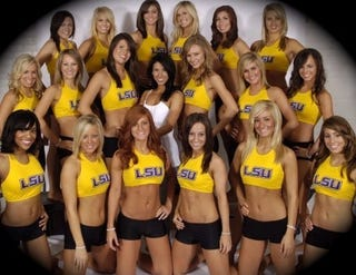 Illustration for article titled College Football Round-Up Week Four: LSU Wins One For The Golden Girls