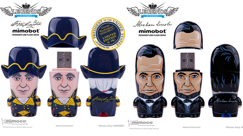 Illustration for article titled U.S. Presidents Immortalized in Flash Drives